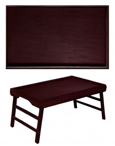 Деревянный столик для завтрака в постель Comfy Home, цвет венге из сосны