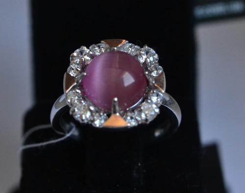 """Кольцо серебряное 925 пробы с вставками из золота 375 пробы """"Изабель"""""""