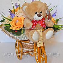 """Подарок из конфет """"Мишка на велосипеде"""" , фото 3"""