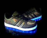 Кроссовки светящиеся женские Black FX12