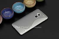 Чехол накладка для HTC One MAX серый, фото 1
