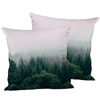 Подушка декоративна Ліс в тумані 45х45 см (45IS_URB034)