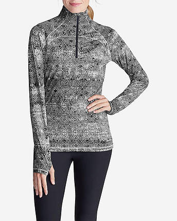 Женская кофта Eddie Bauer Womens Movement Freedom 1/4-Zip BLACK, фото 2