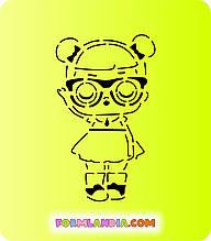 Трафарет + форма Кукла Лол №11