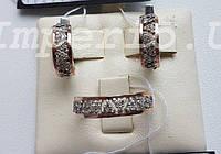 Серебряные серьги с золотыми пластинами БЕЛЛА, фото 1