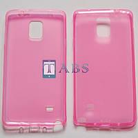 Чехол силиконовый TPU Samsung Galaxy Note 4 N910 розовый