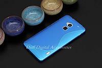 Чехол накладка для HTC One MAX голубой, фото 1