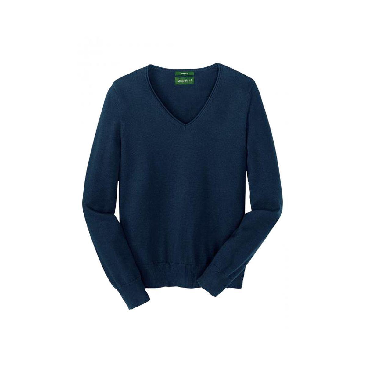 Пуловер женский Eddie Bauer Womens Basic Pullover mit V-Ausschnitt NAVY