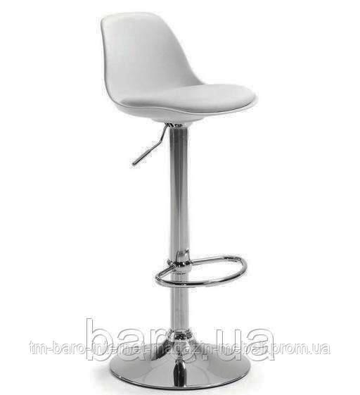 Барный стул Тау Н, белый кожзам