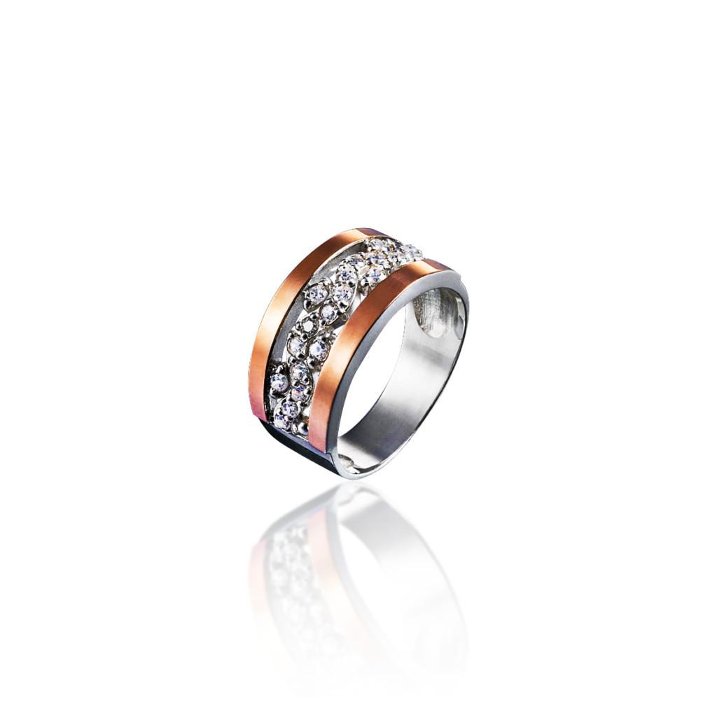 Кольцо из серебра 925 пробы и золота 375 пробы КЛАРИНА