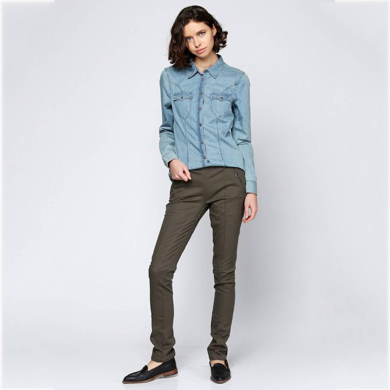 Женские джинсы Geox W2430Q MID BROWN