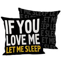 Подушка декоративная If You love me 45х45 см (45IS_URB029)