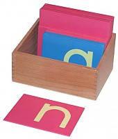 Буквы шероховатые английские строчные печатные в коробке