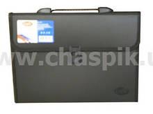 Портфель Eco-Eagle на 12 відділень А4 1000 мкм, чорний