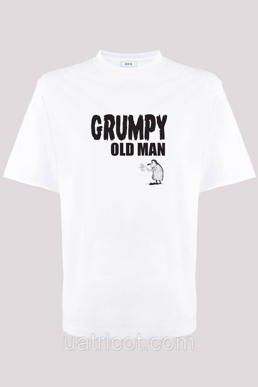 Футболка мужская KIFA ФМХ-019/15 GRUMPY OLD MAN белая