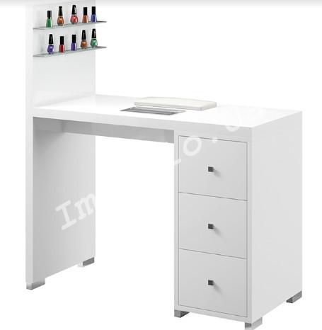Маникюрный столик с полочками под лак М122