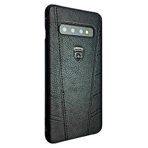 Чехол кожа Easy Bear Puloka Samsung S10+ (black)