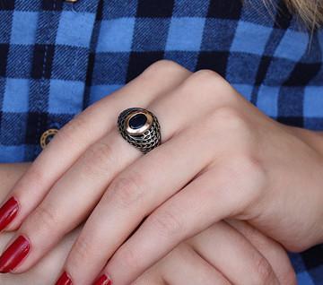 Кольцо серебряное 925 пробы и золота 375 пробы ЛИВИЯ