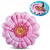 """Пляжний надувний матрац - пліт Intex """"Рожева квітка"""" 142*142см. (58787)"""