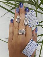 Серебряные серьги с напайками из золота серебряные 925 пробы с вставками из золота 375 пробы, фото 1