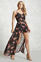 Шифоновый летний комбинизон, ромпер с шортами Forever21 цветочный принт, фото 1