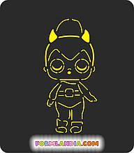 Трафарет + форма Кукла Лол №12