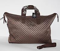5616d91fb19d Дорожная сумка - саквояж Chanel 5338 коричневая стеганая, текстиль