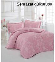 Постельное белье, евро комплект, Турция,Altinbasak Sehrazat gilkurusu, сатин
