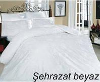 Постельное белье, евро комплект, Турция,Altinbasak scarlet beyaz, сатин