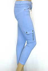 Жіночі штани з накладними кишенями
