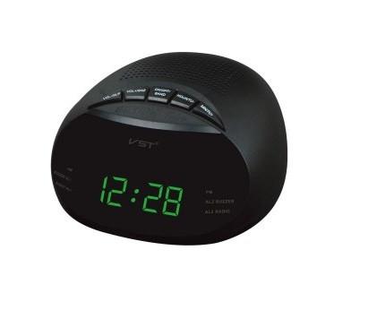 """Часы сетевые 901-2, радио FM """"зеленые цифры"""""""