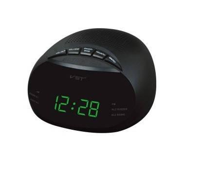 """Часы сетевые 901-2, радио FM """"зеленые цифры"""", фото 2"""