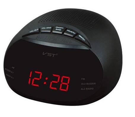 Радио-будильник VST-901-1, красный дисплей, фото 2
