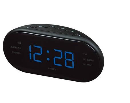 Радио-часы VST-901-5  ,синие цифры, фото 2