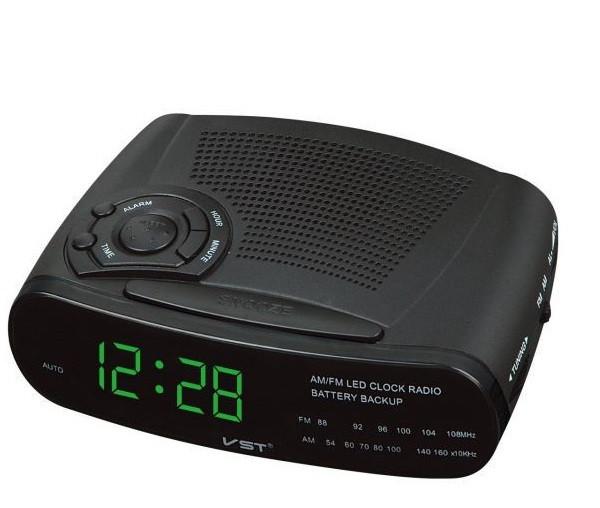 """Часы сетевые 906-4 + радио FM  """"салатовые дисплей"""""""