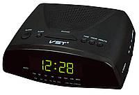 Часы сетевые 905-4 салатовые, радио FM