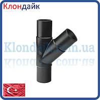 Тройник SDR17 литой стыковой равносторонний 110 под 45°