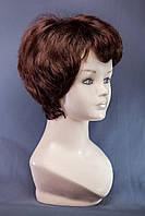 Короткие парики №13.Цвет каштановый с красным оттенком