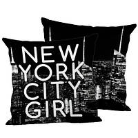 Подушка декоративная New York City Girl 45х45 см (45IS_URB016)