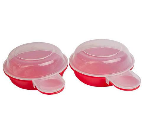 Форма для приготовления яиц в микроволновке Easy Eggwich 2 контейнера, фото 2