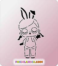 Трафарет + форма Кукла Лол №13