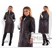 Пальто стеганное ( НОРМА и БАТАЛ) мод.133, фото 1