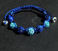 Браслет шамбала сине-голубой