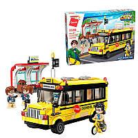 """Конструктор """"Qman"""", город, школьный автобус, фигурки, 440 деталей, 1136"""