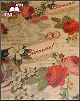 "Крафт-бумага с печатью ""Розы"""
