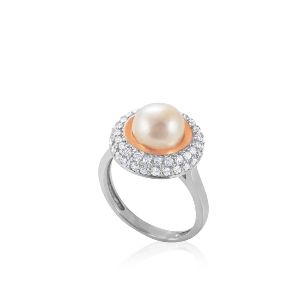 Кольцо серебряное с золотом САРА