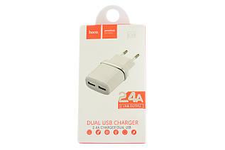 Сетевое зарядное устройство Hoco C12 Dual USB Charger 2.4A