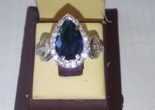 Серебряное кольцо с золотыми накладками АРТЕМИДА