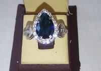 Серебряное кольцо с золотыми накладками АРТЕМИДА, фото 1