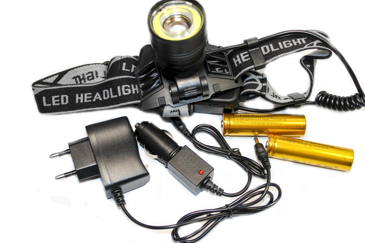 Налобный фонарик BL-8004-Т6+СОВ
